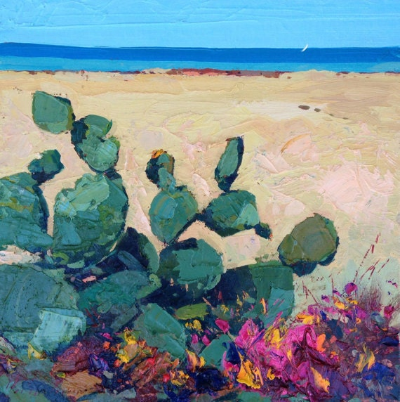 cactus paintings abstract cactus flower painting by