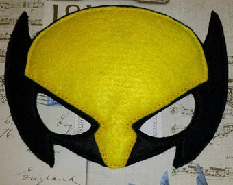 Wolverine X men hero inspired mask ITH Project In the Hoop Embroidery Design Costume, Cosplay, Fancy dress, Masquerade, Photo booth, Prop.
