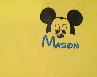 Custom Mickey Mouse shirt with name