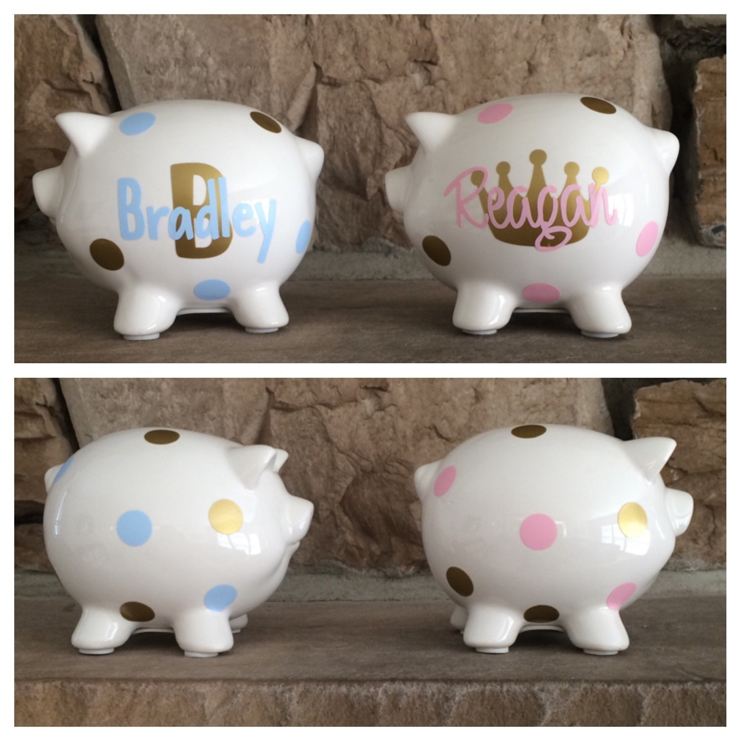Personalized mini piggy bank mini piggy bank party favor for Mini piggy banks