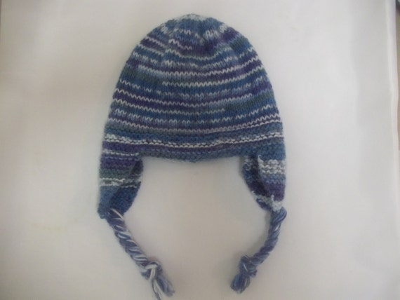 Knit And Purl Pattern : PDF Knitting Pattern earflap trapper hat helmet cap to knit in