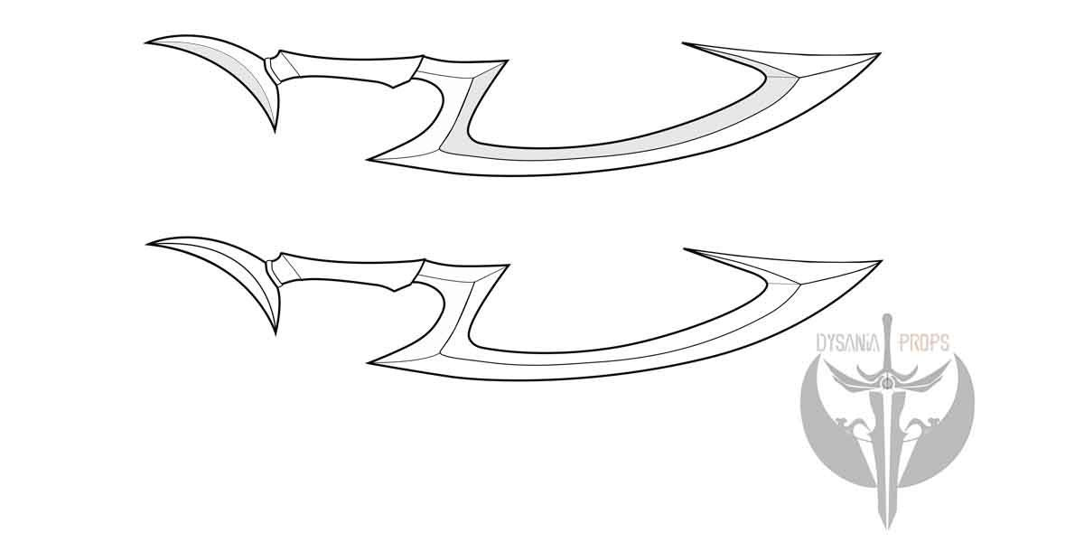 Diana S Crescent Moon Blade Blueprint Pattern From