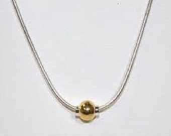 Cape Cod Necklace two tone Rhodium gold-Sterling Silver 925