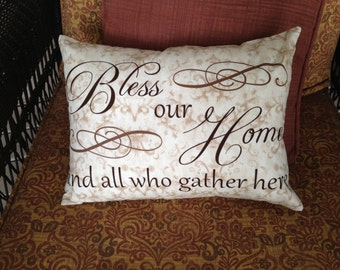 Bless Our Home Pillow Cover