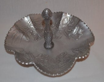 Hammered Aluminum Embossed Candy Dish