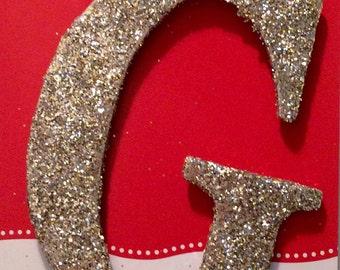 Glitter Metal Letter Wreath Add -On
