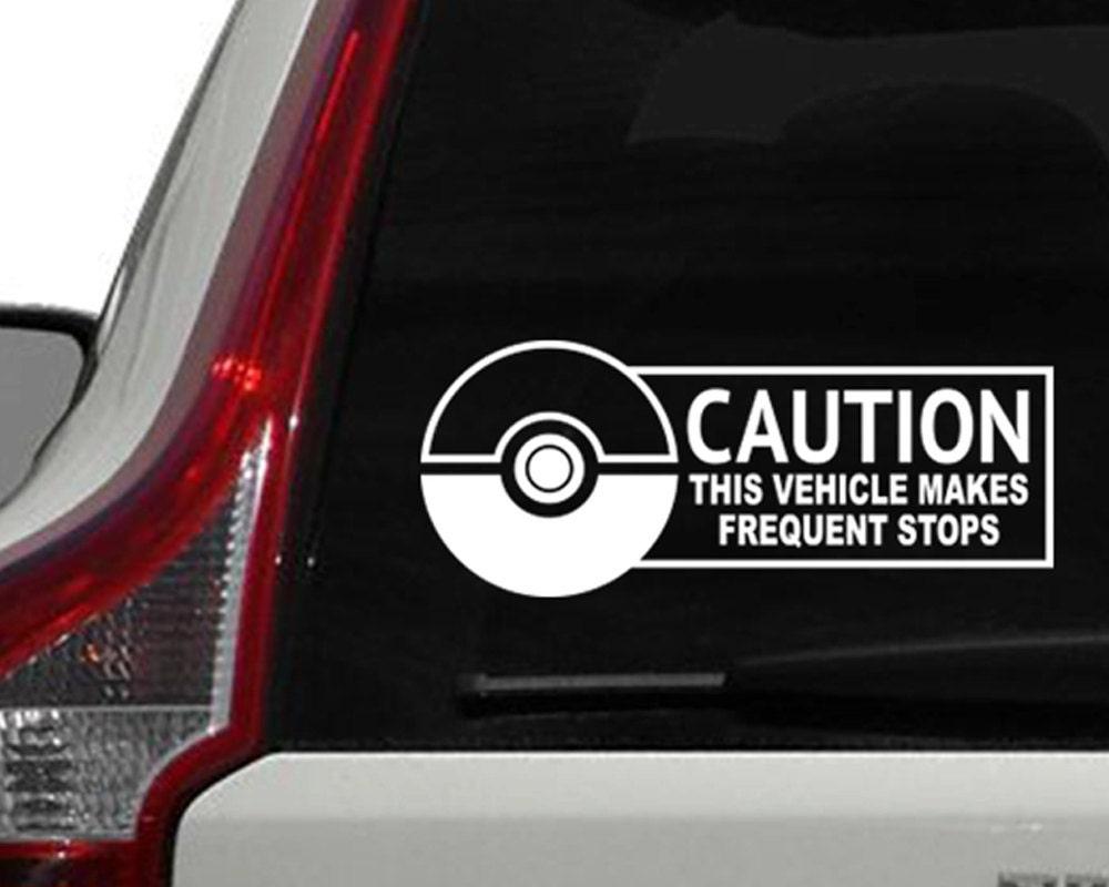 Car stickers design philippines - Pokemon Window Decal Pokemon Go Inspired Car Window Decal Bumper Sticker Frequent Stops Sticker Laptop Sticker