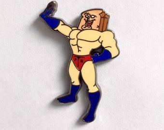 Powdered Toast Man Hat Pin
