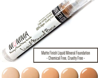 MOMMA Liquid Mineral Base Foundation – Long Lasting Matte Finish