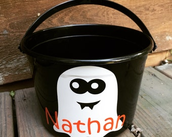 Custom Ghost Halloween Bucket