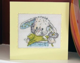Some Bunny to Love Cross Stitch Card