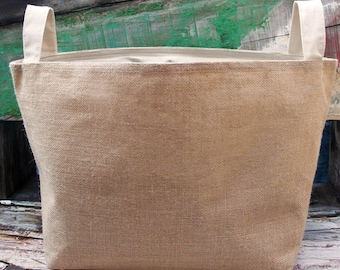 Large Burlap Gift Basket - Blank for HTV or Embroidery