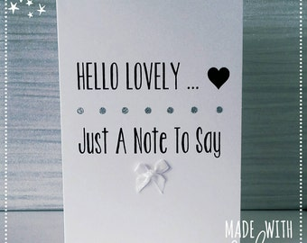 Just To Say Card, Thinking of You Card, Note Card, Just A Note Card, Greetings Card, Card, Thinking of You, Simply Say