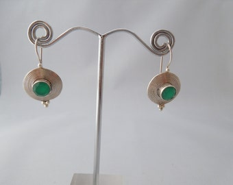 Sterling Silver Earrings, 925 stamped, hanging earrings - 1 pair left!