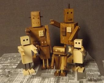 Little wooden robots