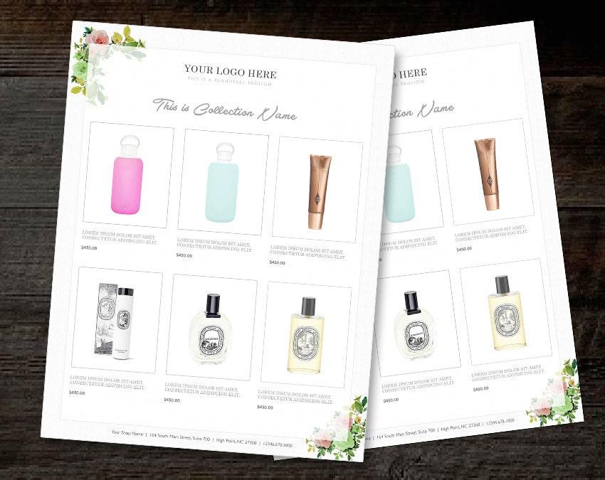vertical line sheet wholesale catalog template mini product. Black Bedroom Furniture Sets. Home Design Ideas