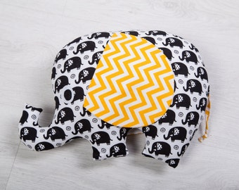 Decorative pillow elephant. Stuffed Elephant pillow, Stuffed cushion. Pillow-toy elephant. Stuffed elephant