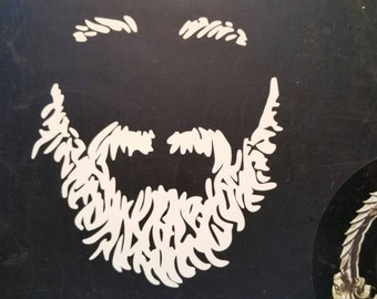 Vinyl Beard Decal