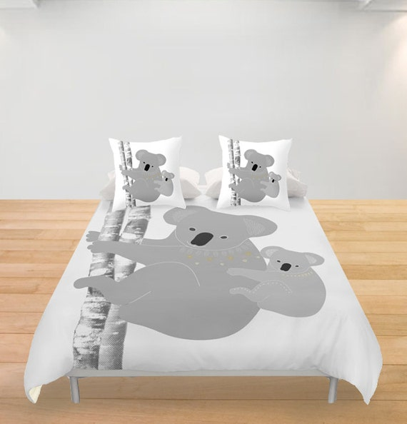 koala porte housse de couette couleur personnalis e enfants. Black Bedroom Furniture Sets. Home Design Ideas