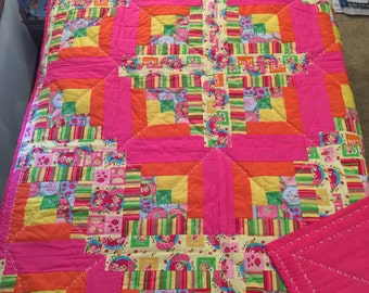Quilt:  Strawberry Shortcake Baby or Toddler Sized