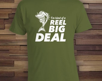 Reel Big Deal -Fishing Gift for Dad, fishing gift for grandpa,Lucky Fish Shirt,Fishing trip gift,Christmas Gift,fishing shirt for dad-CT-715