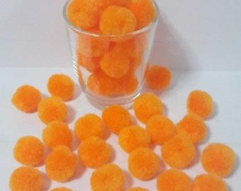 big  pom pom hot orange 20 balls DIY handmade Party Yarn Pom Poms handcraft