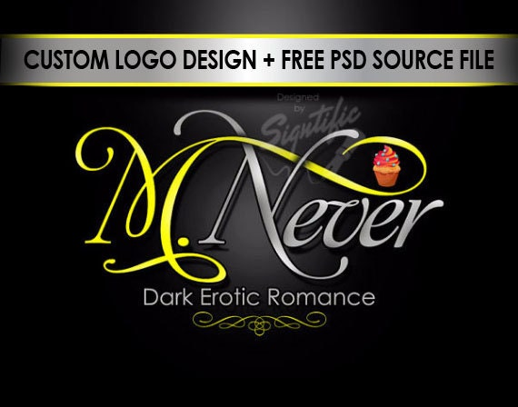 Custom logo, FREE PSD source file, logo in any colors, premade logo with cup cake clipart, OOAK business brand logo