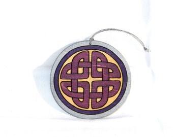 Ornament - Celtic Knot Purple
