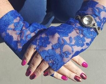 Fingerless Lace Gloves - Handmade