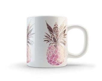 pineapple mug, pineapple, coffee mug, funny mug, pineapple coffee mug, cute mug, summer mug, mug, pineapple print, pineapple gift