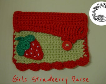 Girls Strawberry Purse