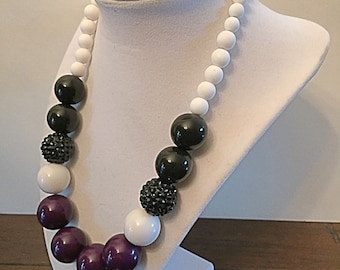 Baltimore Ravens beaded necklace