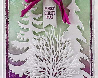 Nature Trees Merry Christmas Card