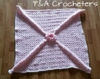 Baby Girl's Crochet Flower Blanket