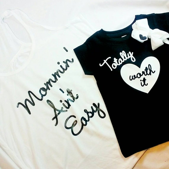 mommy and me outfits mom to be matching custom tank custom tshirt