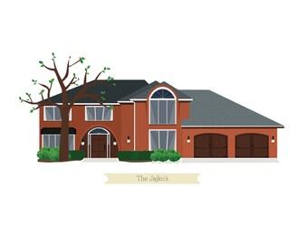 Custom House Print