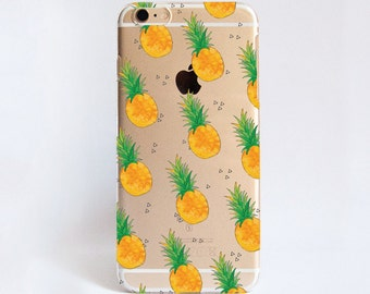 Transparent PINEAPPLE phone case design for iPhone Cases, HTC Cases, Samsung Cases, Google Pixel Cases, Sony Cases and Nokia Cases