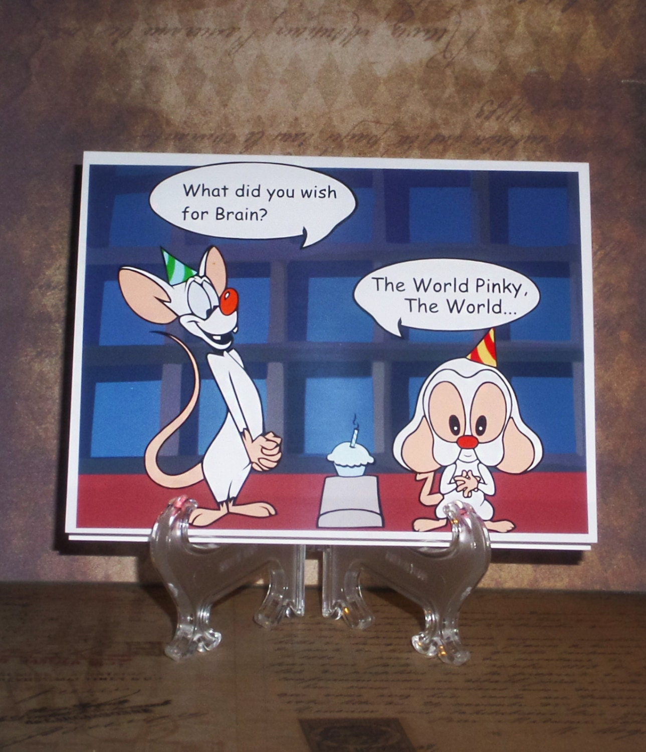 Pinky And The Brain World Domination 4 X 5 Card With