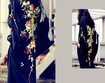Embroidered oversized kimono coats jackets  BonLife