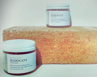 Mahogany - Face Mask, All Natural Mask, Rose Clay Mask, Pore Refining Mask, Anti Aging Mask, Sensitive Skin Mask, Detox Mask