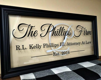 Lawyer Gift, Attorney Gift, Commercial Business Sign, Custom Business Sign, Office Sign, Business Sign, Business Gifts, 10X20 B100