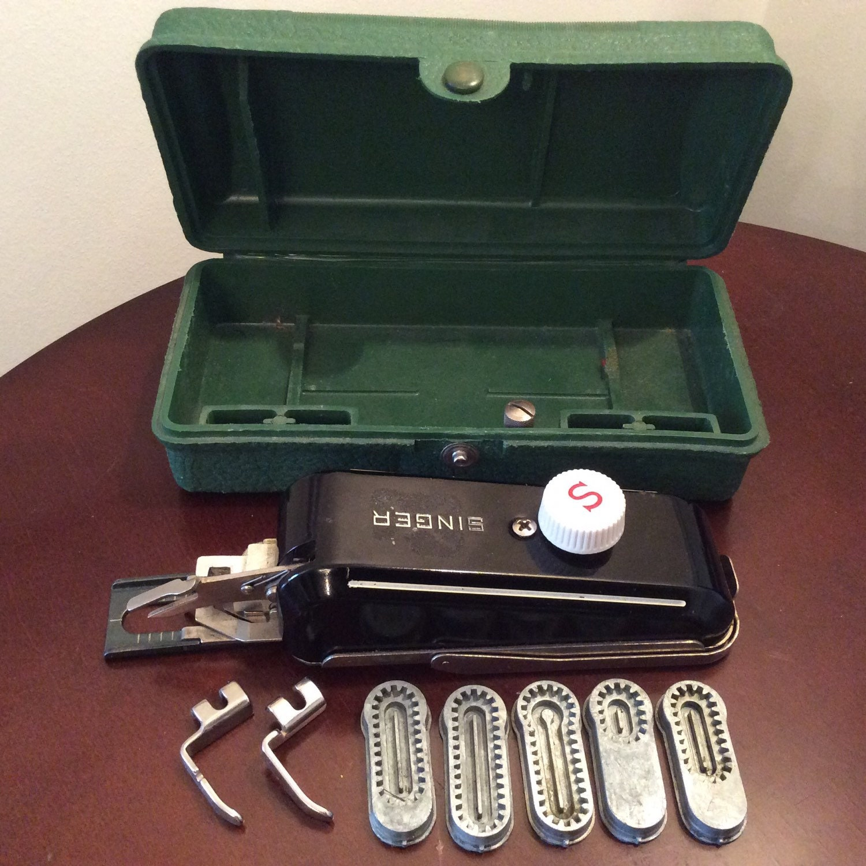 singer sewing machine attachments vintage