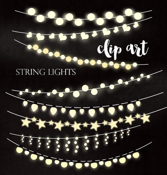 INSTANT DOWNLOAD Printable Digital Clip Art String Lights