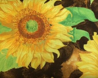 Wilmington Prints SLICE OF SUNSHINE (Dk Brown) 100% Premium Cotton Fabric-Per 1/2 yd