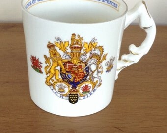 Prince of Wales marrage to Lady Diana Spencer - commemorative mug