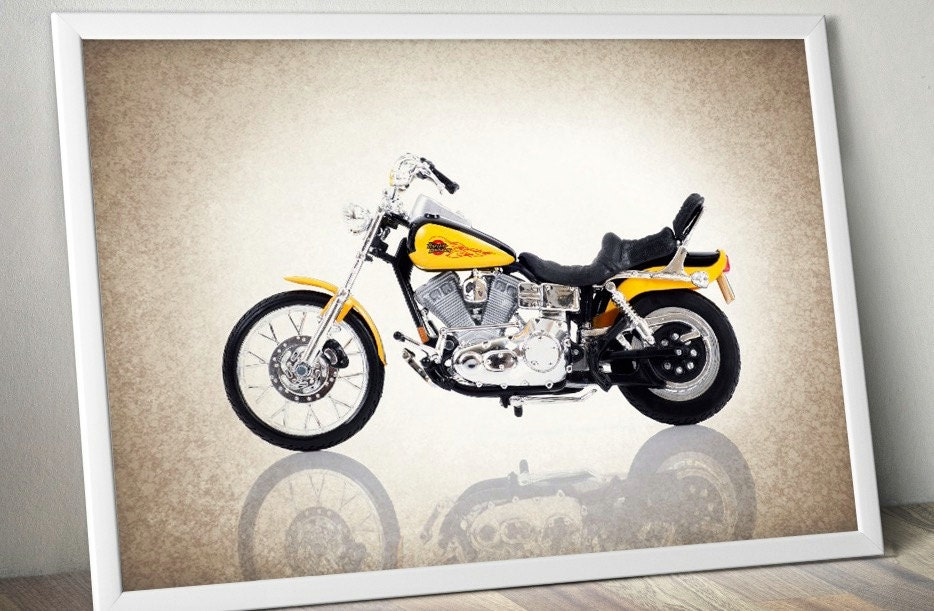 Harley Davidson 1997 photo printDecor ideasWall by IprayStudio