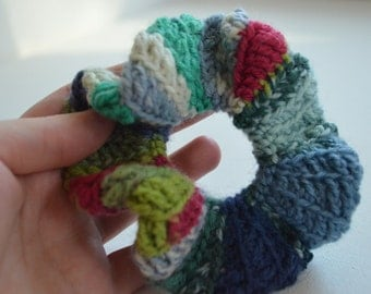 Made to Order Crocheted Blues Scrunchie