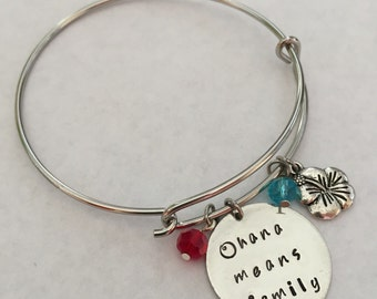Lilo & Stitch Hand-Stamped Necklace/Bangle