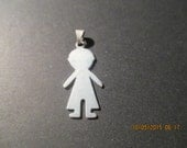 Boy Silhouette Pendant...Sterling Silver..New..