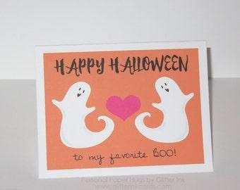 Funny Halloween Card - My Favorite Boo